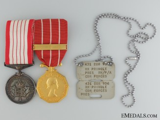 A Canadian Forces Decoration Pair to R.R. Pringle