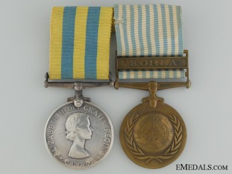 A Canadian Korea War Medal Pair to C.Flemming