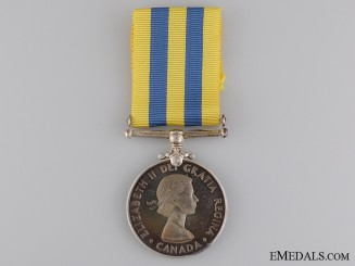 A Canadian Korea Medal to L.H. Carter