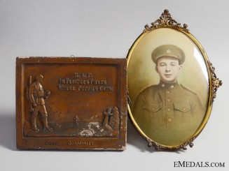 A Canadian Memorial Set to Joseph George White; Passchendaele