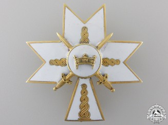 A Croatian Order of King Zvonimir; Second Class Cross with Swords