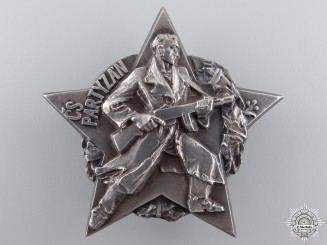 A Czechoslovakian (CSSR) Partisan Decoration in Silver