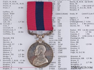 A Distinguished Conduct Medal for Engaging Enemy Sniper Party