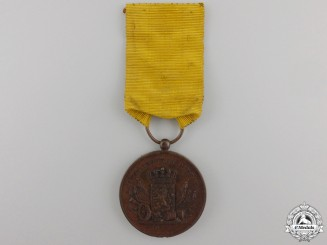 A Dutch Army Long Service Medal; Bronze