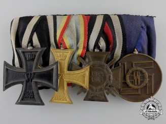 A First War & SS Long Service Medal Bar