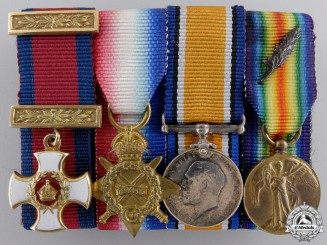 A First War Distinguished Service Order in Gold Miniature Group