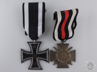 A First War German Imperial Medal Pair; Glaser & Söhne