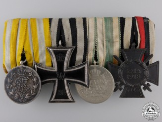 A First War German Imperial Medal Group of Four