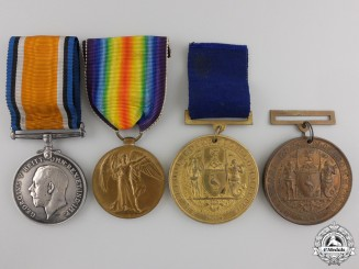 A First War Group of Four to the Royal Artillery
