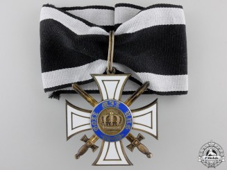 A First War Prussian Order of the Crown with Swords; Commander' Cross