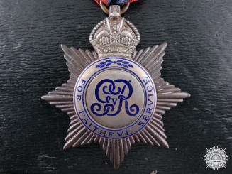 A George V Imperial Service Medal to Richard Jones