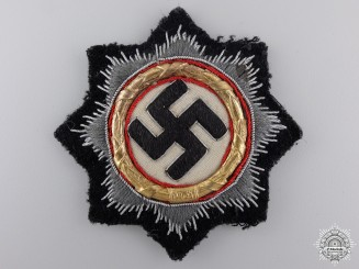 A German Cross in Gold; Black Panzer Version