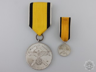 A German Mine Rescue Honor Award with Miniature