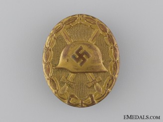 """A Gold Grade Wound Badge; Marked """"30"""""""