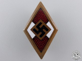 A Golden HJ Honor Badge by Wilhelm Deumer