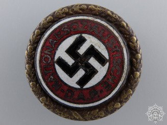A Golden Party Badge; Large Version