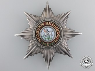 A Scarce Hanoverian Order of St. George Breast Star; English Made c.1860