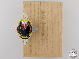 A Japanese Three-Legged Raven Supporting Member's Badge