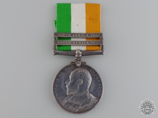 A King's South Africa Medal to the Royal Pioneer Regiment