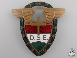 A Large Hungarian D.S.E. Badge
