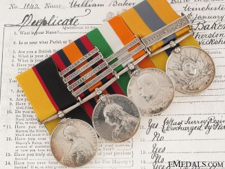 A Late Victorian Group of Four to the Rifle Brigade
