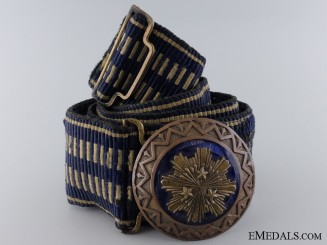 A Latvian Officer's Parade Dress Belt with Buckle