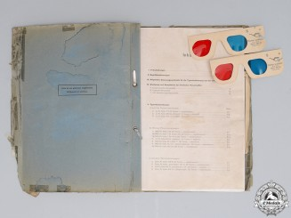 A Luftwaffe Panzer Identification Manual with 3D Glasses