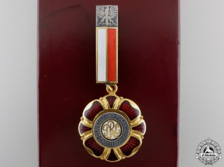 A Medal of Merit for Polish Culture with Case