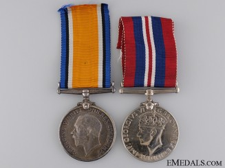 A Medal Pair to Lt. Matthews Australian Imperial Force