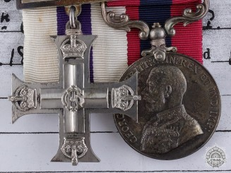 A Military Cross & D.C.M. Pair to Sergeant Major Bowden RFA