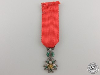 A Miniature French Legion D'Honneur in Gold & Diamonds