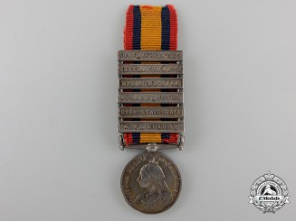 A Miniature Queen's South Africa Medal; Named