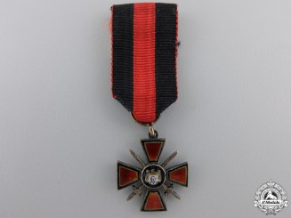 A Miniature Russian Order of St.Vladimir with Swords