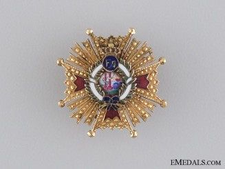 A Miniature Spanish Order of Isabella the Catholic in Gold