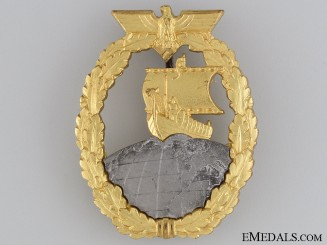 A Mint Auxiliary Cruiser War Badge by SCHWERIN