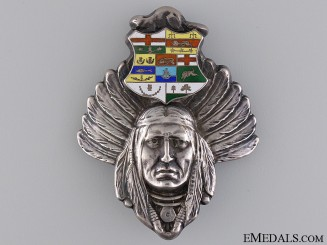 A Native Chiefs 1885 Riel Rebellion Loyalty Badge