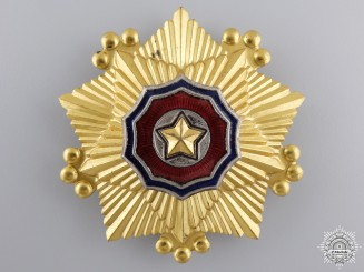 A North Korean Order of the National Flag; 1st Class