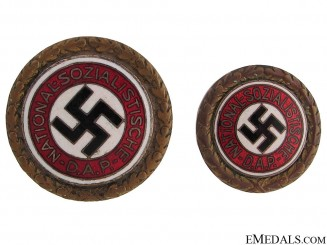 A Pair of Golden Party Badges