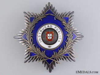A Portuguese Order for Public Instruction; Breast Star