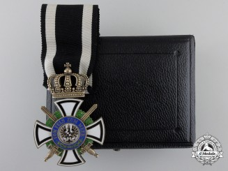 A Prussian House Order of Hohenzollern; Knight's Cross with Swords
