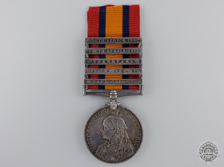 A Queen's South Africa Medal to the Canadian Scouts