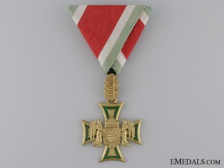 A Rare Hungarian 35/40 Year Long Service Cross  Consignment: 13