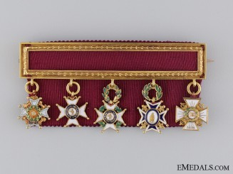 A Rare Miniature Group to a British Officer in the Carlist War