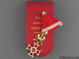 A Rare Order of Leopold with Gold KD