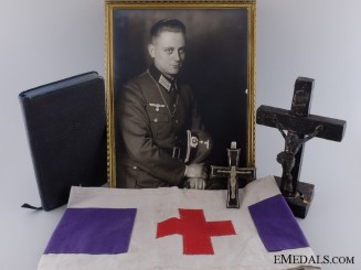 A Rare Wehrmacht Catholic Priests Grouping
