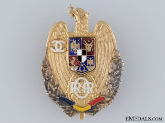 A Retired Romanian Officer`s Badge