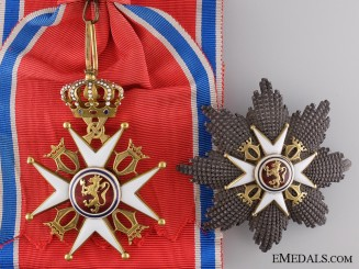 A Royal Norwegian Order of St. Olav Type II; Grand Cross Set of Insignia
