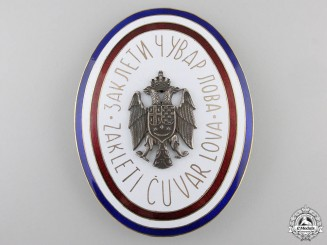 A Royal Yugoslav Game Warden's Badge by Griesbach & Knaus