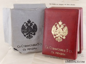 A Russian Order of St. Stanislaus Case with Outer Cartonage