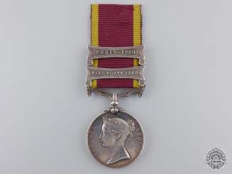 A Second China War Medal to 1st Royal Regiment